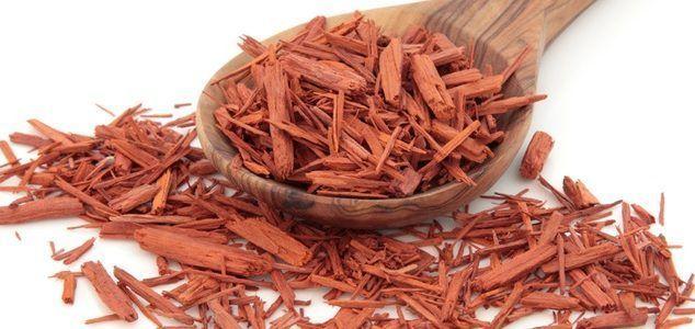 virutas de madera de santalum album