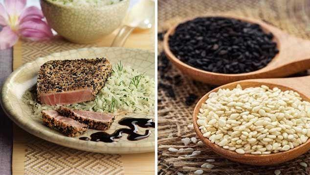 alimentos y propiedades del sésamo
