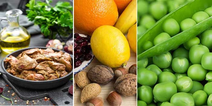 listado de alimentos con más ácido fólico
