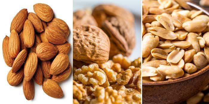nueces y alimentos con más ácido fólico