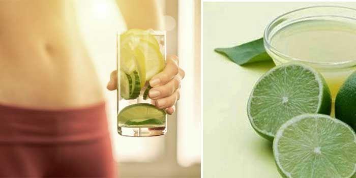 propiedades del agua con limón