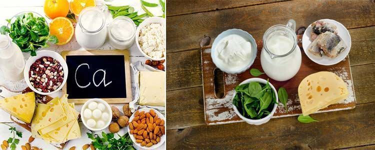 Listado de alimentos con calcio