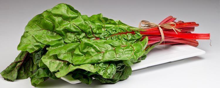 Beneficios del consumo de acelga roja