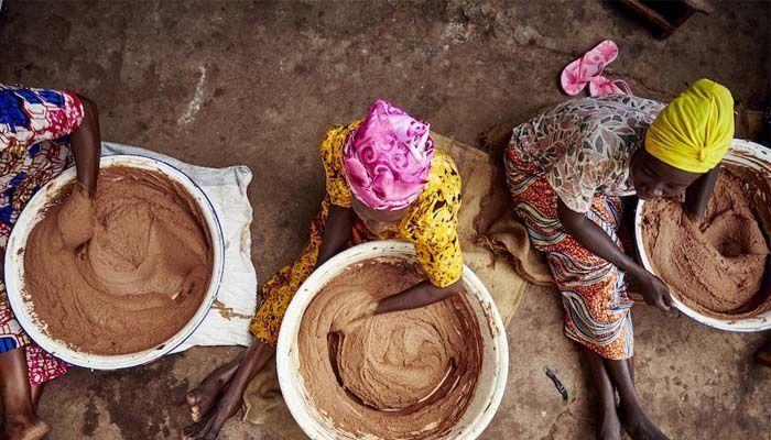 Preparación manteca de karité