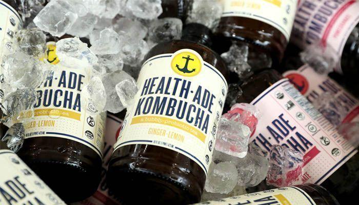 Bebida fría de kombucha